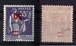 1940/41 - N° 478a (surcharge Renversée) - Type Paix - Neuf ** - Cote 1250 - Signé Scheller - Errors & Oddities