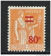 """FR YT 359 """" Paix Surchargé """" 1937 Neuf** - 1932-39 Paix"""