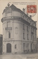 Poste - Poste Et Télégraphes - Téléphone - Clermont Ferrand - Cachet 1912 - Postal Services