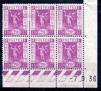 FRANCE - YT N° 321 Bloc De 6 Coin Daté - Neuf **/* - MNH/MH - Cote: 6,50 € - Lire Descriptif - - 1930-1939