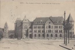 Poste - Poste Et Télégraphes - Metz Hôtel Des Postes Et Gare - 1912 - Postal Services