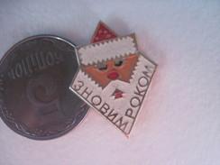 USSR Russia Santa Happy New Year - Badges