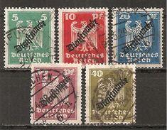 DR 1924 // Mi. 106/110 O (008..030) - Service