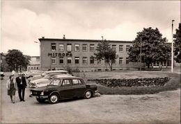 ! DDR Ansichtskarte 1975, Jena In Thüringen, Saalbahnhof, Mitropa, PKW, Autos, Voitures - PKW
