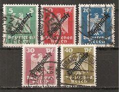 DR 1924 // Mi. 106/110 O (008..031) - Service