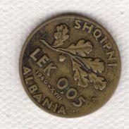 Albania 0.05 Lek 1940 Vittorio Emanuele III Italia - Albania