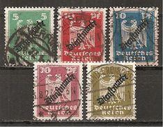DR 1924 // Mi. 106/110 O (008..032) - Service