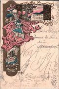! 1900 Alte Ansichtskarte, Couleurkarte, Burschenschaft, Chattia Verbindung, Studentika, Wappen, Bensheim - Ecoles