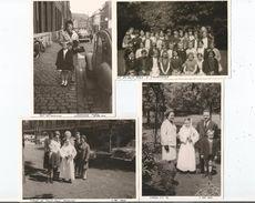 TOURCOING (NORD) 4 PHOTOS TIREES D'UN ALBUM 1964 1968 (CLASSE DE FILLE .COMMUNION AU COLLEGE DU SACRE COEUR 2CV ) - Places