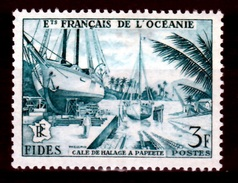 """French Oceania, """"FIDES"""", Papeete , 1956, MNH VF - Oceania (1892-1958)"""