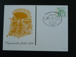 Entier Postal Stationery Card Année Olympique Olympic Year Fellbach Allemagne Germany 1980 - Summer 1980: Moscow
