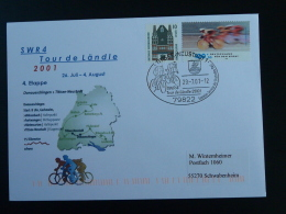 Lettre Cover Cyclisme Course Cycliste Cycling Race Tour De Landle Titisee Allemagne Germany 2001 - Cyclisme