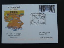 Entier Postal Stationery Cyclisme Course Cycliste Cycling Race Deutschland Tour 2005 Etape 7 Singen - Ciclismo