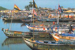 Afrique-GHANA   ELMINA Canoes Ornemented  (fishing Pêche) *PRIX FIXE - Ghana - Gold Coast