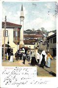 Sarajevo - Strassenbild (animation, Colors, 1904, Minaret) - Bosnie-Herzegovine