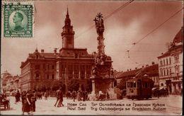 ! Old Photo Postcard , Foto, Straßenbahn, Tramway, Novi Sad, Serbien, Serbia 1926 - Serbia