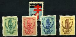 1278-España Nº 840, 851/4 - 1931-Aujourd'hui: II. République - ....Juan Carlos I