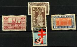 España Nº 840, 832 Y 833/5. Año 1937 - 1931-Today: 2nd Rep - ... Juan Carlos I