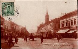 ! Old Photo Postcard , Foto, Straßenbahn, Tram, Novi Sad, Serbien, Serbia 1926 - Serbia