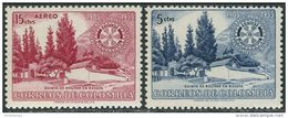 Colombia 1955. Michel #743/44 MNH/Luxe. 50 Years Rotary International. (TS03/16) - Rotary, Lions Club