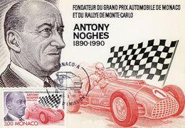 Monaco  -  Antony Noghes  -  Fondateur Du Grand Prix Et Rallye Monte-Carlo  -  Carte Maximum - Automobile