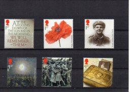 GB 2014 FIRST WORLD WAR CENTENARY Set MNH - 1952-.... (Elizabeth II)