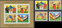 Soccer Football Yemen PDR #289/92 + Bl 4 1982 World Cup Spain MNH ** - 1982 – Espagne