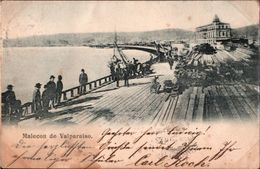 ! Old Postcard 1903 Malecon De Valparaiso , Chile, Hamburg - Chili
