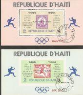 Haiti 1969 Mi# Blocks 35-36 Used - Olympic Marathon Winners, 1896-1968 - Sommer 1968: Mexico