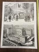 ENV 1880 LES ABORDS DE LA RUE DE LA LOI PENDANT L EXPOSITION NATIONALE ETABLISSEMENT DE BLATON AUBERT A SCHAERBEEK - Vieux Papiers