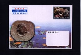 North Korea Fossils Aerogramme - Fossiles