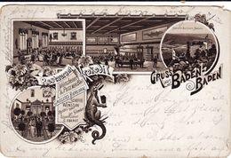 Gruss Aus Baden-Baden - Restaurant Krokodil - 1894 - Baden-Baden