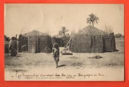 NEM-17  Zarzis  Les Gourbis Dans L'oasis. ANIME. Cachet 1911 - Tunisia