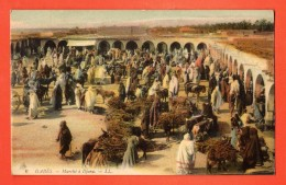 NEM-18  Gabès  Marché à Djara. ANIME. Cachet 1910 - Tunisia