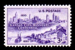 USA, 1950, Scott #994, Missouri Centennial, Images Of Kansas City, 3c,  MNH, VF - United States