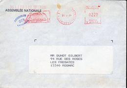 2- FRANCE Enveloppe Avec Cachet ASSEMBLEE NATIONALE 071 - 1965 - Philatélie & Monnaies