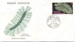 Repubblica Centroafricana - REPUBLIQUE CENTRAFRICAINE - 1973 - 25F Chenille - FDC - Repubblica Centroafricana