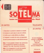 TARJETA TELEFONICA DE MALI, (41947) TIRADA 10000. 1ª EMISION CON CHIP. (444) - Mali