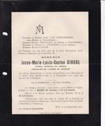 BRUXELLES SPA Josse GIHOUL Consul Du Libéria 1851-1911 Famille VAN HOEGAERDEN DRUGMAN D'EPSTEIN - Avvisi Di Necrologio