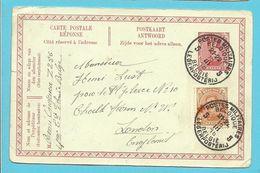 150 Op Entier Met Stempel POSTES MILITAIRES BELGIQUE 5 - 1918 Red Cross