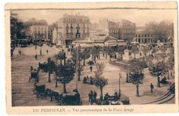 ----66 -----  PERPIGNAN  Vue Panoramique Place Arago - écrite Un Peu Délavée - - Perpignan