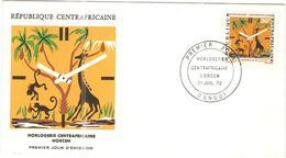 Repubblica Centroafricana - REPUBLIQUE CENTRAFRICAINE - 1972 - 30F Horlogerie - Horcen - Bangui - FDC - Repubblica Centroafricana