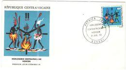 Repubblica Centroafricana - REPUBLIQUE CENTRAFRICAINE - 1972 - 10F Horlogerie - Horcen - Bangui - FDC - Repubblica Centroafricana