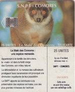 TARJETAS TELEFONICA DE COMORES (FAUNA). (834) - Comores