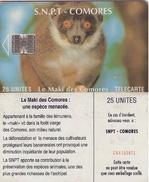 TARJETAS TELEFONICA DE COMORES (FAUNA). (834) - Komoren