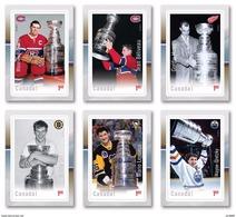 2017 Canada Hockey NHL Legends Set Of 6 Self Adhesive MNH - Nuovi