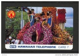 Hawaii GTE - 1991 7 Unit - Aloha Festival - Floral Float  - HAW-18 - Mint - Hawaii