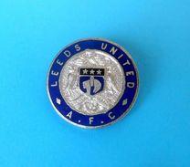 LEEDS UNITED FC - England Football Soccer Club Enamel Pin Badge By Fattorini Fussball Anstecknadel Distintivo Brittish - Football