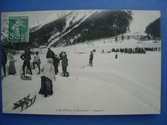 L'hiver à Chamonix. Lugeurs, 1911, TBE. - Chamonix-Mont-Blanc