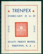USA . VIGNETTE BF. TRENPEX 1941 N Xx Thème électricité TB.rare. - Varietà, Errori & Curiosità